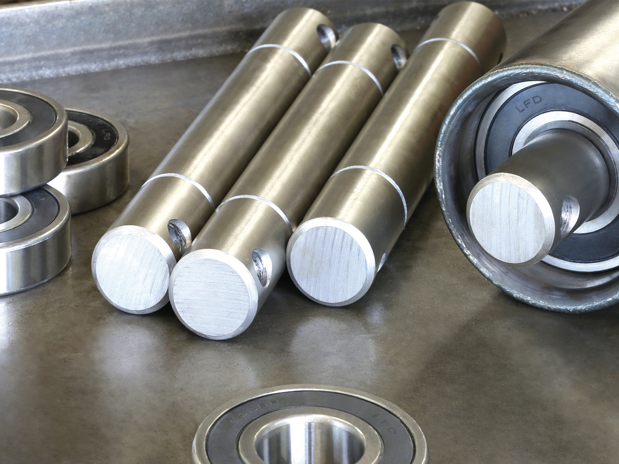 Roller manufacture for conveyor lines